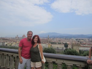 Stan Loomis and his wife in Florence